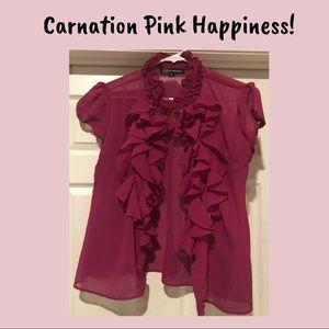 Tops - Sheer Pink Blouse